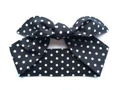 A personal favourite from my Etsy shop https://www.etsy.com/au/listing/510707321/pin-up-headband-black-and-white-polka