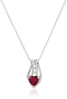 Sterling Silver Diamond Accent 'MOM' Pendant Necklace, 18' *** Check this awesome product by going to the link at the image.