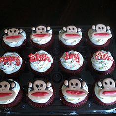 Paul Frank Monkey cupcakes