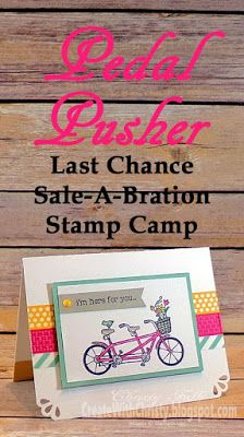 Pedal Pusher Stamp Camp Card