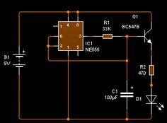 IC 555 desvanecedor con led y 555