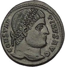Constantine I The Great Ancient Roman Coin Military camp or bivouac gate i53257