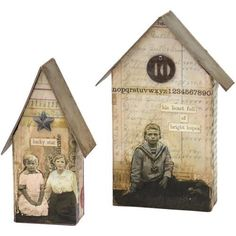 Shop for Sizzix Bigz Large Die By Tim Holtz Houses T - tiny houses to Get free delivery On EVERYTHING* Overstock - Your Online Scrapbooking Shop! Tim Holtz, Mixed Media Boxes, Mixed Media Art, Diy And Crafts, Paper Crafts, Bird Aviary, Scrapbooking, Paper Houses, Little Houses