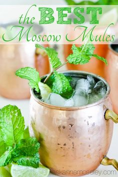 The BEST Moscow Mule recipe. Easy to make and very refreshing for those warm…