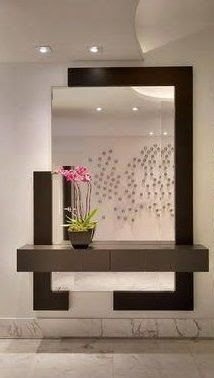 modern decorative wall mirrors design ideas for living room decoration 201 . - modern decorative wall mirrors design ideas for living room decoration 2019 – - Entrance Decor, Entryway Decor, Entrance Ideas, Living Room Modern, Living Room Designs, Modern Wall, Living Rooms, Modern Foyer, Post Modern