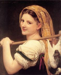 The return of the market - Bouguereau William-Adolphe