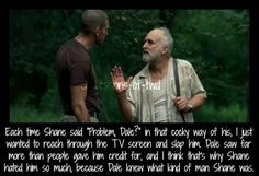 Confessions Of The Walking Dead -Dale will always be one of the best characters of TWD