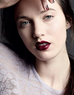 Matilda Lowther by Liz Collins for Vogue Japan February 2014