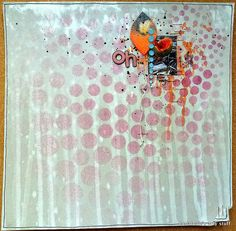 "TCR #121 by loolabelle1961, via Flickr -- using the Balzer Designs ""Circle Explosion"" stencil"