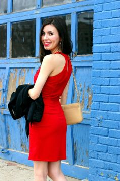 Blogger Adriana @Adriana Martínez Lucia looks gorgeous in a Charlotte Russe red dress! See more of her #ootd on her blog post - Leopard Martini: Little Red Dress