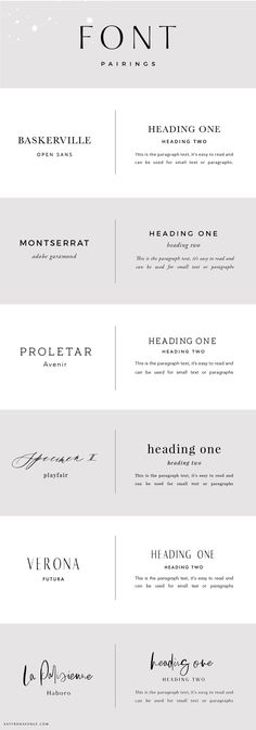 Font Pairings and ho