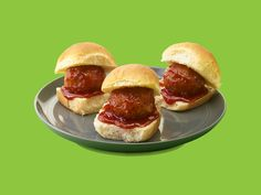 SPAM® Saucy Meatball Sliders combine SPAM® Classic and bacon on Hawaiian rolls for an irresistible flavor. Try it once and it'll be a favorite recipe! Spam Recipes, Slider Recipes, Beef Recipes, A Food, Food And Drink, Meatball Sliders, Slider Sandwiches, Hawaiian Sweet Rolls, Island Food