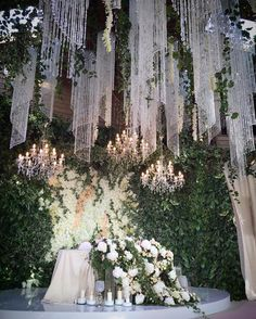 61 Trendy ideas for wedding ceremony ideas indoor chandeliers Wedding Stage, Wedding Themes, Dream Wedding, Trendy Wedding, Wedding Lighting, Wedding Ideas, Wedding Music, Elegant Centerpieces, Wedding Centerpieces