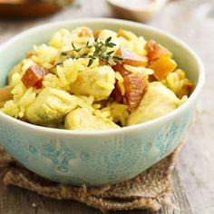 Salade de poulet au riz et pamplemousse