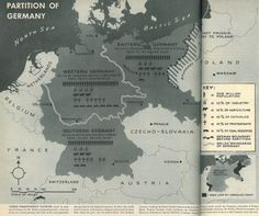 Map of a Proposed Partition of Germany into 3 Independent Nations. Published in LIFE, July 24, 1944.