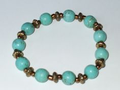 Hey, I found this really awesome Etsy listing at https://www.etsy.com/listing/83541943/turquoise-stretch-bracelet