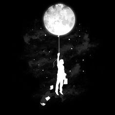 moon t shirt design