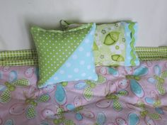 Doll bedding set doll comforter  18 inch doll by aSummerSwallow