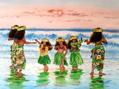 Too cute! Little Hulas by John Yato