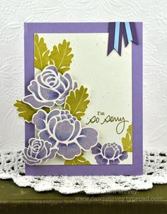 I'm So Sorry Card by Dawn McVey for Papertrey Ink (July 2012)