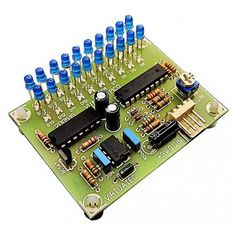 Vu Meter LM3914 - 20 Leds -  Barra com ind. de PICO - LED AZUL 3mm