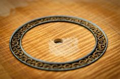 new devine ukulele rosette before fill... like the idea of carving without fill