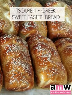 Greek Easter Bread, Greek Bread, Easter Bread Recipe, Easter Recipes, Dessert Recipes, Greek Sweet Bread Recipe, Recipes Dinner, Holiday Recipes, Greek Sweets