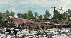 Yutyrannus huali (dinosaurio tiranosauroide del Cretácico de Asia, 125mA) (Brian Choo)