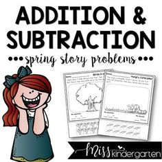 Add some fun spring story problems to your repertoire of activities this year! Students can practice their addition and subtraction with these cute worksheets!