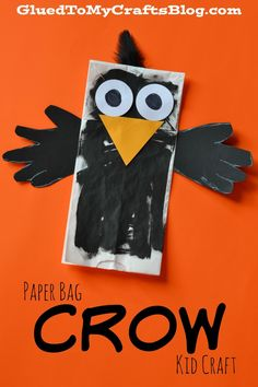 Paper Bag Crow {Kid Craft}