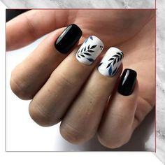 Semi-permanent varnish, false nails, patches: which manicure to choose? - My Nails Latest Nail Designs, Creative Nail Designs, Beautiful Nail Designs, Beautiful Nail Art, Creative Nails, Nail Art Designs, Black Nail Art, Black Nails, Trendy Nails