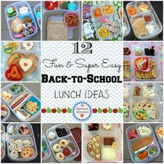 12 Super Fun and Easy Back-To-School Lunch Ideas...For more creative school lunch tips and ideas FOLLOW https://www.facebook.com/homeandlifetips