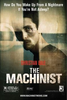"The Machinist (El maquinista) - 2004 ""Stevie: Trevor, I'm worried about you. Trevor Reznik: Don't worry. No one ever died of insomnia. Stevie: [giggles] I hope not. You're my best client. Can't afford to lose you. Trevor Reznik: Gee, thanks."""