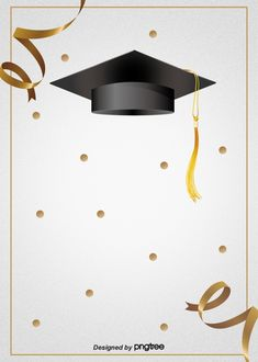 Creative Background Of Happy Graduation Hat
