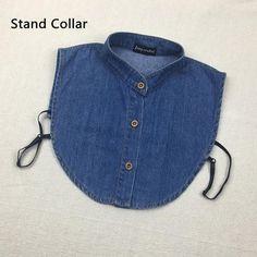 05a5edc4 [EBay] 2017 Fake Collar Shirt Vintage Blue Jeans Detachable Collar Vintage  False Collars Nep