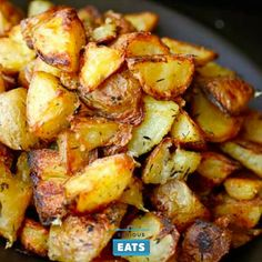 Not only do these potatoes lose a great deal of volume as they roast, it also appears that dinner guests suddenly gain a great deal of volume in their stomachs when the potatoes hit the table.