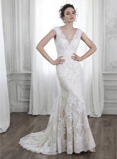 Beformal.com.au SUPPLIES Fancy Lace And Tulle V-Neckline A-line Wedding Dress  Lace Wedding Dresses
