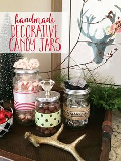 I'm sharing a DIY project that is super easy and uses items you probably have around your house already. These decorative candy jars can be used to hold more th…