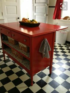 Old chest of drawers made in to an island