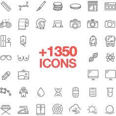 Retina Icons – 1350 #icons