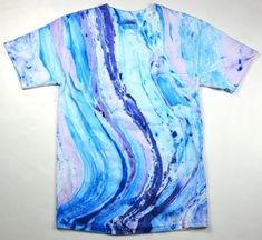 Beautiful Marble Tie Dye T Shirt Multicolor Adult XL | eBay
