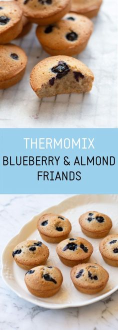Delight your taste buds with these incredibly easy to make Thermomix Blueberry and Almond Friands. #thermomix #friands