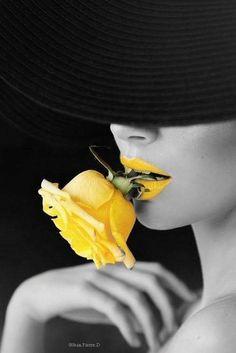 JordanLanai That pop of yellow Yellow Photography, Splash Photography, Black And White Photography, Portrait Photography, Black And White Portraits, Black And White Pictures, Black And White Colour, Black N Yellow, Color Yellow