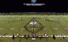 Carolina Crown 2013 - Rotating 3D Pyramid. Best drill move ever.