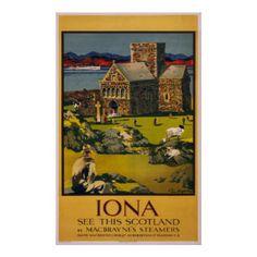 Iona - Vintage Travel Poster