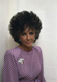 Elizabeth Taylor, aged 55, in Paris, photographed by Martine Franck, in 1987. She is wearing the Duke of Windsor brooch.