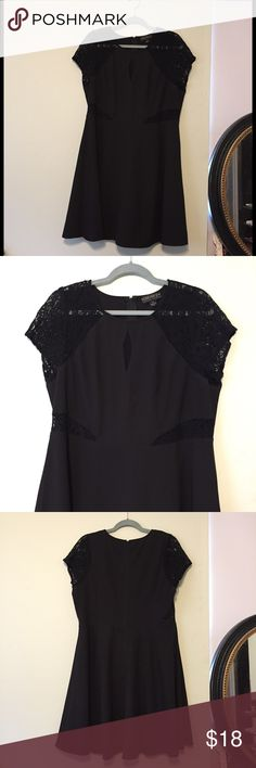 Forever 21 Plus Black Dress with Lace In great condition Forever 21 Dresses