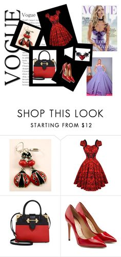 """set 19"" by nudzi-ded ❤ liked on Polyvore featuring Prada, Salvatore Ferragamo, Whiteley and Christian Siriano"