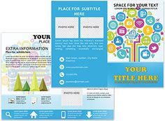 Chalk Drawing Brochure Templates Brochure Templates Pinterest - Brochure template online