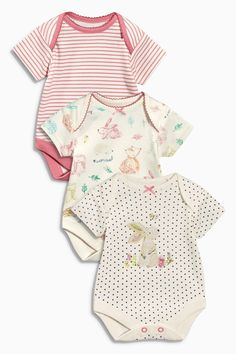 Buy Three Pack Spot Bunny Bodysuits (0mths-2yrs) from the Next UK online shop